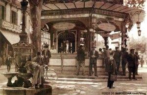 canaletas quiosc barcelona antigua